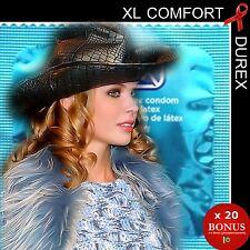 ❤ DUREX XL COMFORT ❤ x 20 préservatifs XL plus larges plus longs