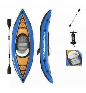 🛶 Bestway Cove Champion Inflatable Kayak 1 Person Canoe With Pump & Paddle!🔥