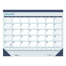 House Of Doolittle 151 Recycled Contempo Desk Pad Calendar 22 X 17 Blue 2021