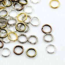 LOT de 200 ANNEAUX DOUBLES jonction CONNECTEURS 7mm MIX 5 COULEURS perles bijoux