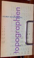 Heissenbüttel Helmut: Topographie 1956 4-zeilge Widmung Erstausgabe