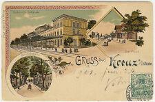 Poland, Krzyz Wielkopolski, Kreuz a. Ostbahn, Railway Station,Old Litho Postcard