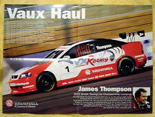 Vauxhall Astra Coupe BTCC VXR Racing double sided fold-out poster 2003
