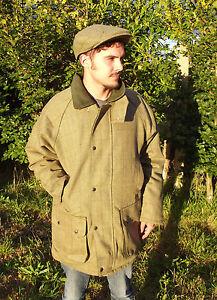 Tweed Jacket New Mens Made In England Moleskin Collar Green S M L XL XXL XXXL