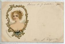 Madame de Pompadour Ragazza Donnina Early Glamour Girl PC Viaggiata 1901