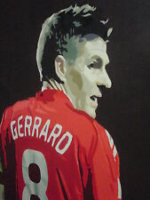 Steven Gerrard pittura ad olio 28x16 non stampa un telaio poster.box avail.liverpool