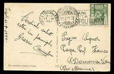 Italy Cols LIBIA 1934 PPC native woman Visit Tripolitania slogan cancel
