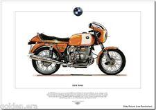 BMW R90/S - Superbike Fine Art Print - 900cc German manufactured motorbike image