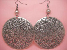 "C1003 fashion women new big round elegant love dangle earrings 2.2"" jewelry"
