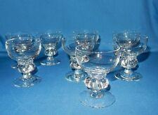 Set 8 Holmegaard Denmark Crystal Liqueur Cordial Sherry Goblets Mayfair 1950s