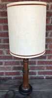 """Vintage Primitive/Rustic Style Wrought Iron Accents Studs Tall Table Lamp, 34.5"""""""