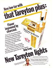 Original Print Ad-1977 New low tar with that Tareyton plus Improved by Charcoal!