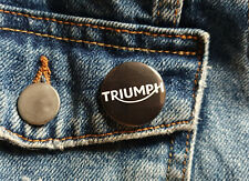 Triumph Motorcycle - Small Button Badge - 25mm diam