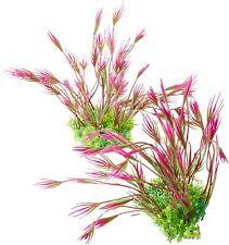 New listing ByTheBay Aquatics Plastic Aquarium Plant Set - 2 Pieces, Pink and Green