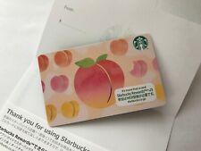New 2020 Japan Starbucks Peach (Momo) Card - Pin Intact