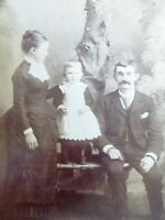 Large 1800s Victorian Cabinet Card Photograph by Bower