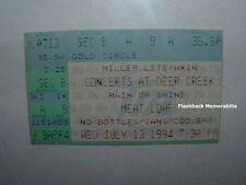 MEATLOAF Concert Ticket Stub 1994 INDIANAPOLIS DEER CREEK MUSIC CENTER Rare