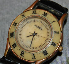 Vintage Fossil MW6765 Women's Stone Brass/Copper Bezel w/ Original Band NEW BATT