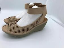 Clarks Nubuck Leather Perforated Wedges Reedly Salene (1601) Sand Size 9W