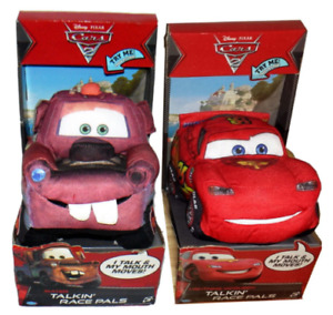 Disney Cars Lightning McQueen OR Mater Talking Sound Stuffed Plush Doll Soft Toy