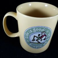 Collectible Life is Good Stoneware Coffee Mug - Golf is good for the Soul
