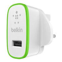 Belkin ULTRA RAPIDE 2.4amp Amp CHARGEUR SECTEUR USB pour iPhone x 8 7 6S 6 8/7