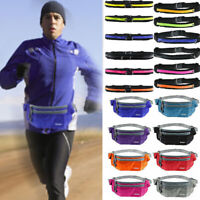 Unisex Sports Bum Bags Fanny Pack Hiking Running Waists Flexible Belt Pouch Lot