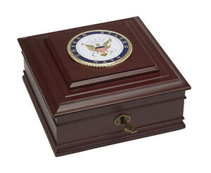 Allied Frame U.S. Navy Medallion Executive Desktop Box *100% MADE IN THE USA*