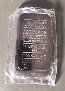 Pair 1oz Sealed Johnson Matthey TD Bank Silver Bar Ingots
