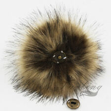 NEW DETACHABLE COLOURED FAUX FUR POM POMS FOR HATS AND CLOTHES