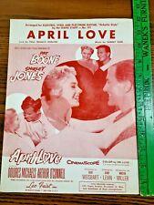 April Love Sheet Music - Shirley Jones & Pat Boone