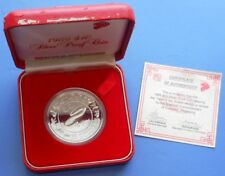 1989 SINGAPORE LUNAR YEAR OF SNAKE...$10...92.5% SILVER...PROOF...BOX/COA #244