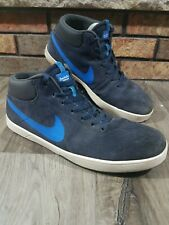 Nike SB Eric Koston 1 Blue Suede LEATHER SKATEBOARD SHOES 653999-401 Mens Sz 11