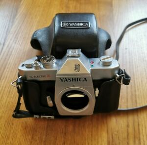 YASHICA TL ELECTRO X BODY + CASE, M42 VINTAGE 35MM SLR CAMERA, GREAT CONDITION!