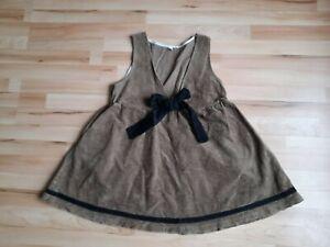 MORI GIRL  corduroy womens dress,brown&black,size-L