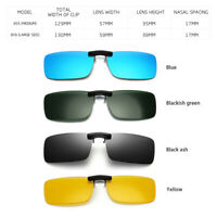 Fashion Polarized Sunglasses Clip Nose Driving Glasses Day Night Vision Len Gift