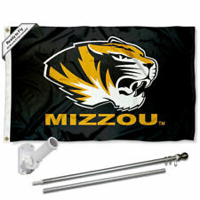 Missouri Tigers Black Flag Pole and Bracket Gift Set Package