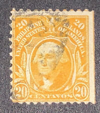 Travelstamps: 1917 US Philippines stamp scott #297 20 cent Washington Used NG