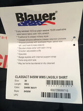 BLAUER CLASSACT 8450w Wool Blend Womens Long Sleeve Uniform Work Shirt - Size 38