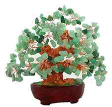 7 Inch Feng Shui Aventurine Quartz Gem Stone Money Tree Natural Green Crystal .