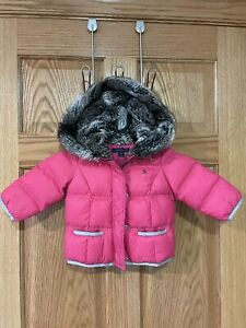 Tommy Hilfiger Goose Down Pink Infants Puffer Jacket Girls Size 12 months
