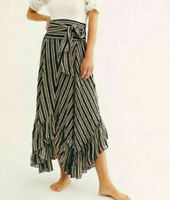 Free People FP One Giselle Striped Printed Maxi Skirt High Waisted S New 203232
