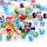 200 Stück ,4mm Glasslperlen Kristall Glasschliffperlen BICONE Rhomben Perlen d6
