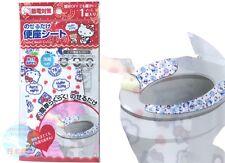 SANRIO Hello Kitty KAWAII Adhesion Toilet Seat Cover Washable Hip-friendly JAPAN