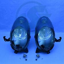 2x Fanali Nissan Micra k12 NERO SINISTRO + DESTRO CON LAMPADINA 03-05