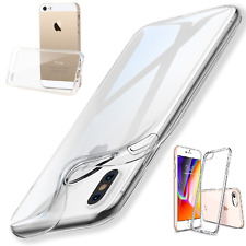 IPhone SE Ultra Thin Silicone Gel Case Cover &  Screen Protector