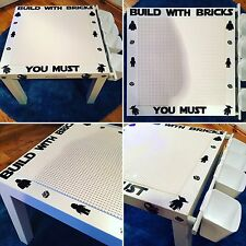 Lego Customised Building table - Minecraft, Starwars, Batman, Marvel, Ninjago