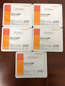 Smith & Nephew Cica-Care Silicone Gel Sheet 5 x 6 in. 5 pack  exp.12/24