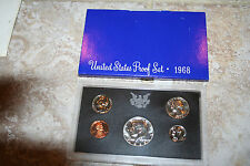 1968 US Coin Proof Set 40% Silver Kennedy Half Birth Year Free Shipping 45440000