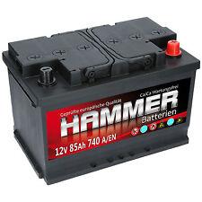 HAMMER 12V 85 Ah 740A EN AUTOBATTERIE STARTERBATTERIE CALCIUM Technologie NEU